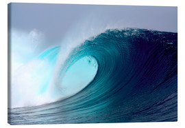 Canvas print  Tropical blue surfing wave - Paul Kennedy