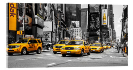 Acrylic print  Yellow cabs in Times Square - Hannes Cmarits