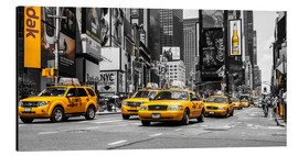 Aluminium print  Yellow cabs in Times Square - Hannes Cmarits
