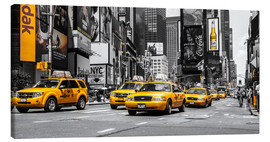 Canvas  Yellow Cabs at the Times Square (ck) - Hannes Cmarits
