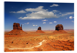 Acrylic glass  Monument Valley Navajo National Monument - Renate Knapp Waldundwiesenfee