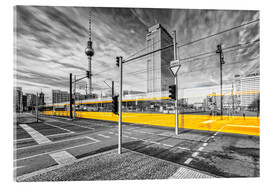 Acrylic print  Alexanderplatz Berlin Colorkey - Marcus Klepper