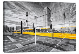 Canvas  Alexanderplatz Berlin Colorkey - Marcus Klepper