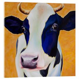 Acrylic glass  Cow Angelika - Renate Berghaus