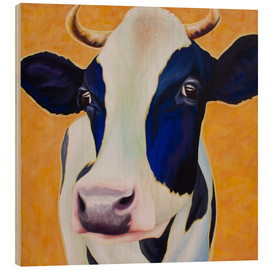 Wood print  Cow Angelika - Renate Berghaus