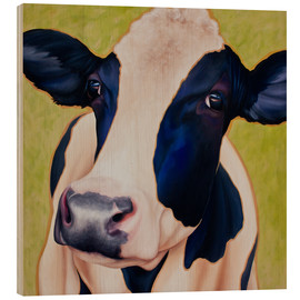 Wood print  Cow Paula - Renate Berghaus