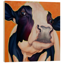 Wood print  Cow Rosa - Renate Berghaus