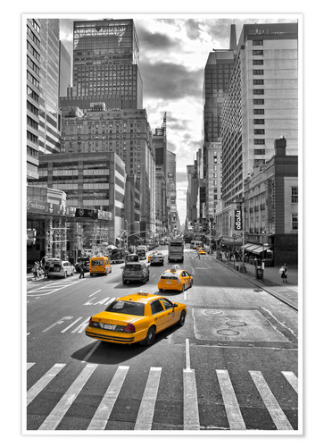 Poster New York Taxi.Marcus Klepper New York Yellow Cab Poster Posterlounge