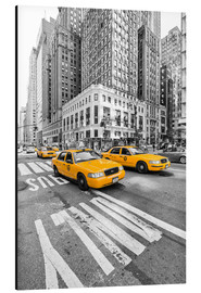 Aluminium print  Yellow Taxi / Cab, New York - Marcus Klepper
