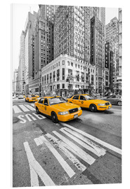 Foam board print  Yellow Taxi / Cab, New York - Marcus Klepper
