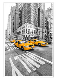 Premium poster Yellow Taxi / Cab, New York