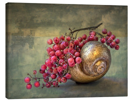 Canvas print  the golden snail - Lizzy Pe