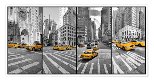 Premium poster New York Cab Collage