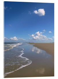 Acrylic print  further beach with clouds - Susanne Herppich