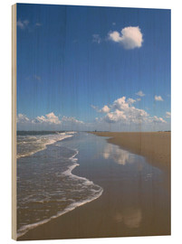 Wood print  further beach with clouds - Susanne Herppich