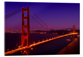 Acrylic print  Golden Gate Bridge by Night - Melanie Viola