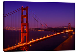 Canvas  Golden Gate Bridge by Night - Melanie Viola