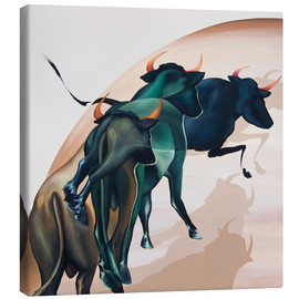 Canvas print  bulls 1 - Renate Berghaus