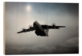 Wood print  A400M - airpowerart