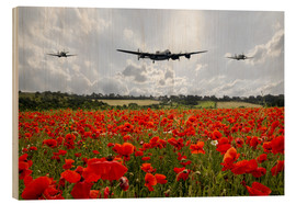Wood print  Poppy Flypast - airpowerart