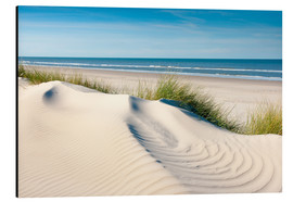 Alu-Dibond  Langeoog seascape with dunes and fine beach grass - Reiner Würz RWFotoArt