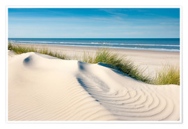 Reiner Würz RWFotoArt - Langeoog seascape with dunes and fine beach grass