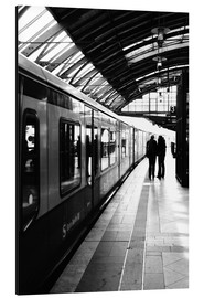 Aluminium print  S-Bahn Berlin black and white photo - Falko Follert