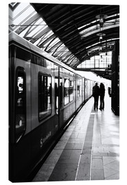 Canvas  S-Bahn Berlin black and white photo - Falko Follert