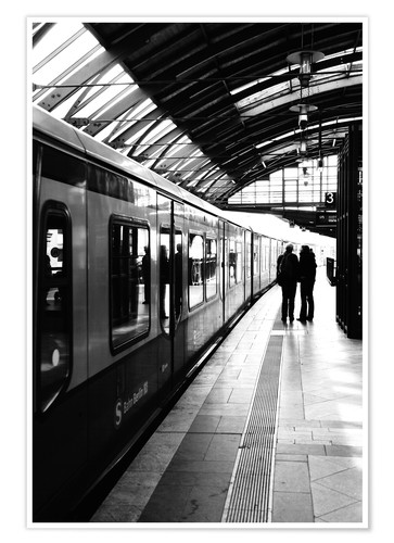 Premium poster S-Bahn Berlin black and white photo