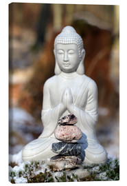 Canvas  Buddha Happy - Renate Knapp Waldundwiesenfee