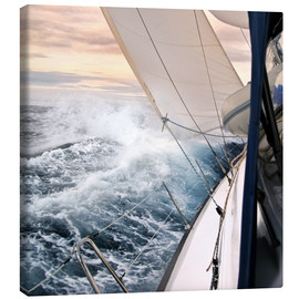 Canvas print  Sailing through the storm - Jan Schuler
