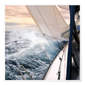 Premium poster  Sailing through the storm - Jan Schuler
