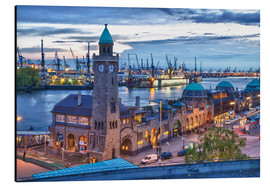 Aluminium print  Harbour and Jetty, Hamburg - Jan Schuler