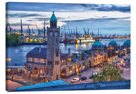Canvas print  Harbour and Jetty, Hamburg - Jan Schuler