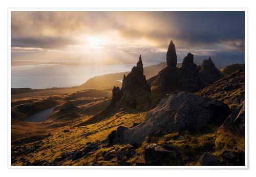Premium poster Scotland - Isle of Skye - Old Man of Storr