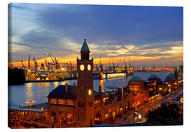 Canvas print  Gangplank Hamburg - sunset - bildpics