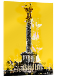 Acrylic print  Berlin Victory Column (on Yellow) - JASMIN!