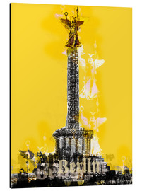 Alu-Dibond  Berlin Victory Column (on Yellow) - JASMIN!
