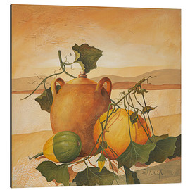 Aluminium print  Pumpkins and terracotta - Franz Heigl