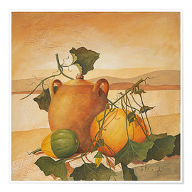 Premium poster Pumpkins and terracotta