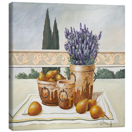 Canvas print  Stillleben mit Lavendel - Franz Heigl