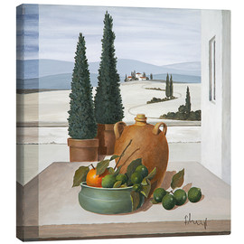 Canvas print  Stillleben mit Limetten - Franz Heigl