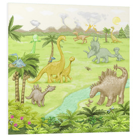 Foam board print  dinosaur landscape - Fluffy Feelings