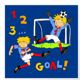 Fluffy Feelings - boys playing soccer, Goal!