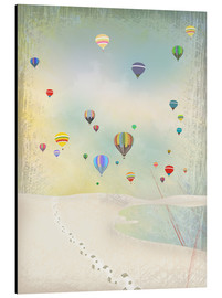 Aluminium print  Hot air balloon day - Elisandra Sevenstar