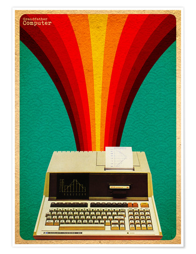 Poster grandfather computer