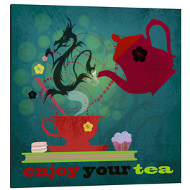 Aluminium print  Enjoy your tea - Elisandra Sevenstar