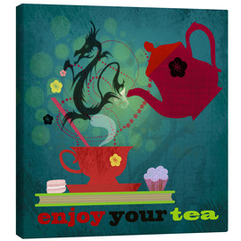 Canvas  enjoy your tea - Elisandra Sevenstar