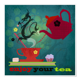 Premium poster  Enjoy your tea - Elisandra Sevenstar