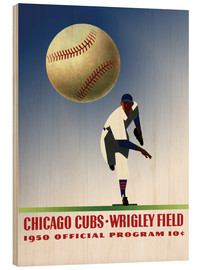 Wood print  chicago cubs 1950 - Sporting Frames
